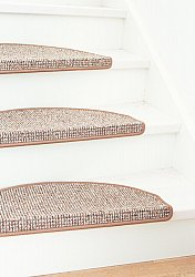 Stair carpet - Brusells 28 x 65 cm (light brown)