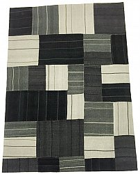 Patchwork Carpet - Superior new wool Patchwork (black)