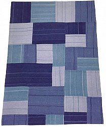 Patchwork Carpet - Superior new wool Patchwork (blue)