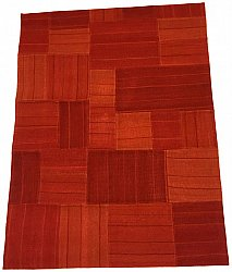 Patchwork Carpet - Superior new wool Patchwork (red)