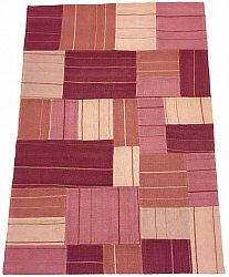 Patchwork Carpet - Superior new wool Patchwork (pink)