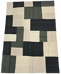 Patchwork Carpet - Superior new wool Patchwork (grey)