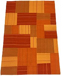 Patchwork Carpet - Superior new wool Patchwork (orange)