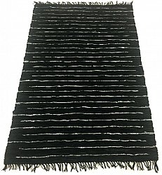 Rag rugs Large - Nordal Design (black, 100% leather) 200 x 300 cm