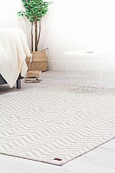 Wool rug - Wave (grey)