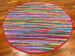 Rag rugs - Happy (round)