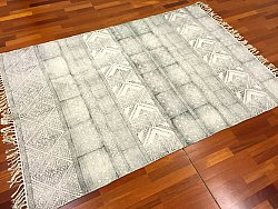 Rag rugs - Rabat (black/grey/white)