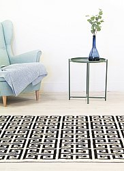 Rug 160 x 230 cm (wool) - Gournia (black/white)