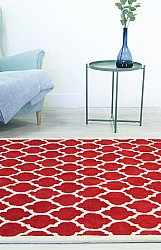 Rug 200 x 300 cm (wool) - Madrid (red)