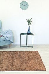 Bamboo silk rug - Faliraki (brown)