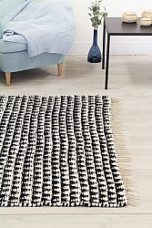 Rug 140 x 200 cm (cotton) - Lindby (black/white)