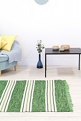 Rug 160 x 230 cm (cotton) - Kajsa (green)