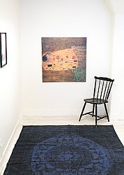 Rug 140 x 200 cm (cotton) - Bunbury (blue)