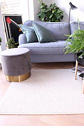 Custom Size Rug (finest wool) - Quadro (white/sand)