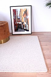Custom Size Rug (finest wool) - Quadro (white/grey)