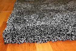 Shaggy Rugs Shaggy Deluxe Black Silver