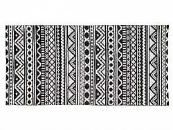 Kitchen rug (plastic) - The Horredmatta Inca (black)