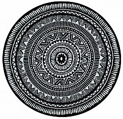 Round rugs - Jivaro (black/white)
