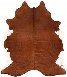 Cowhide - Classic Brown and White 10