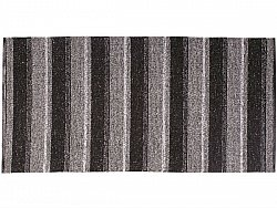 Kitchen rug (plastic/cotton) - The Horredmatta Liv Mix (black)
