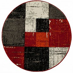 Round rugs - London Square (red/orange)