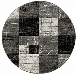 Round rugs - London Square (black)