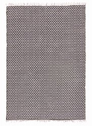 Rug 170 x 240 cm (cotton) - Lykke (grey/grey-black)