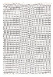 Rug 170 x 240 cm (cotton) - Lykke (grey/ice blue)
