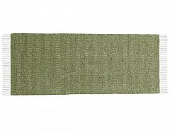 Kitchen rug (plastic/cotton) - The Horredmatta Maja Mix (olive)