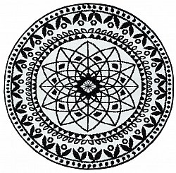 Round rugs - Maya (black/white)
