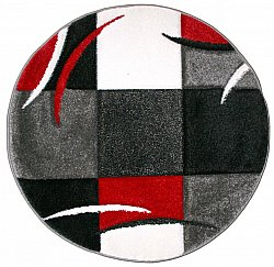 Round rug - London Patch (red)