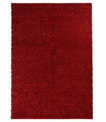 Trim shaggy rug red round short pile long 60x120-cm 80x 150 cm 140x200 cm 160x230 cm 200x300 cm