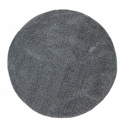 Round rugs - Soft Shine (Dark grey)