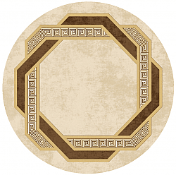 Round rug - Olympia (beige/brown)