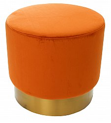 Pouf velvet - Copenhagen (orange)