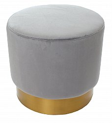 Pouf velvet - Copenhagen (light grey)