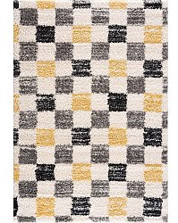 Shaggy rugs - Tellaro (grey-yellow)