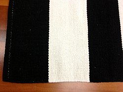 Rag rugs from Stjerna of Sweden - Bredbyn (black-white)