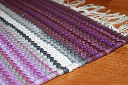 Rag rugs from Strehög of Sweden - Björkö (purple)