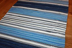 Rag rugs from Strehög of Sweden - Björkö (blue)