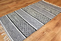 Rag rugs Large - Visby (black-white) 160 x 230 cm
