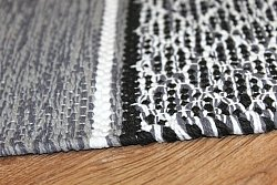 Rag rugs - Visby (black-white)