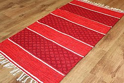 Rag rugs Large - Visby (red) 160 x 230 cm