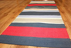 Rag rugs from Strehög of Sweden - Rainbow (blue-red)