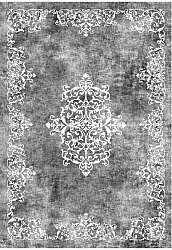 Wilton rug - Santi (dark grey/white)