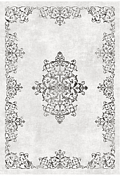Wilton rug - Santi (white/black)