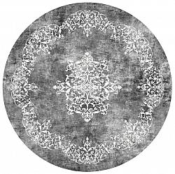 Round rug - Santi (dark grey/white)