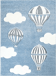 Childrens rugs - Bueno Hot Air Balloon (blue)