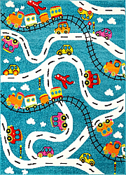 Childrens rugs - Moda Cars (turquoise)
