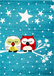 Childrens rugs - Moda Owls (turquoise)